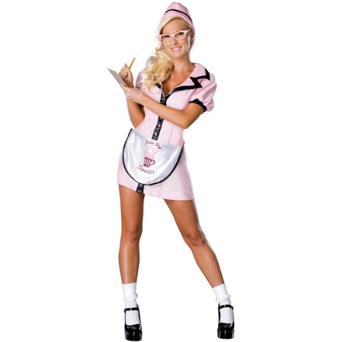 Soda Pop Girl Adult Costume - X-Small (Flo Halloween Costume)