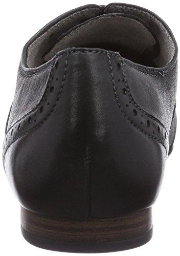 Tamaris 23206 - zapato oxford de cuero mujer negro - Schwarz (Black Uni 007)