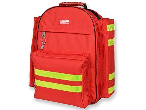 Mochila GIMA Logic-1 40 cm de largo x 20 cm de ancho x 47 cm de alto, rojo, emergencia, trauma, rescate, médico, primeros auxilios, enfermera, bolsa de ...