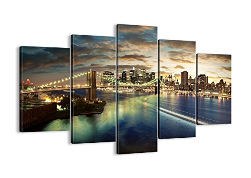 Canvas Print Picture - 5 Piece - Total size: Width 59,1