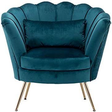 Living Room Chair Velvet Accent Chair Modern Vanity Chair Upholstered Guest Chair Leisure Armchair