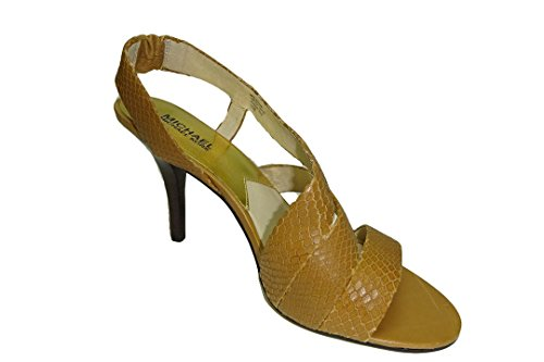 MICHAEL Michael Kors Women's Farris Slingback Sandal,Peanut,10 M US