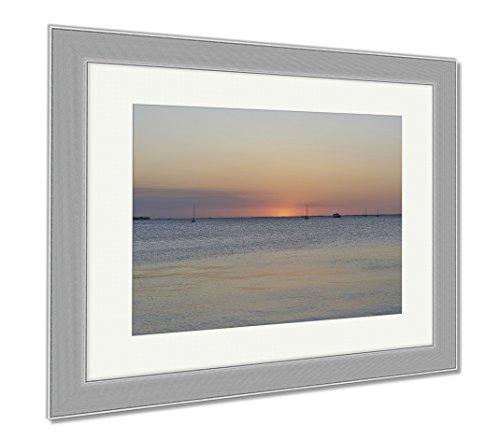 Ashley Framed Prints Port Charlotte Punta Gorda Florida Sunset, Wall Art Home Decoration, Color, 26x30 (frame size), Silver Frame, - Fit You Charlotte Port