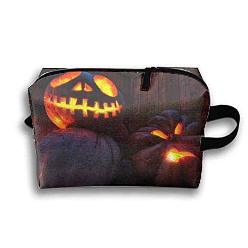 Halloween Pumpkin Lights Drops Barn Evening Cosmetic Case Bag Appropriate Makeup Cosmetic Bags