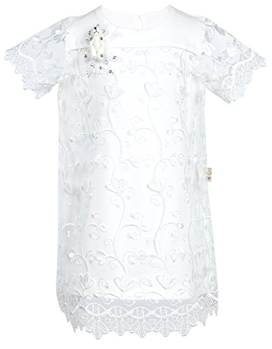 Lilax Baby Girl's Christening Baptism Simple Lace Dress 9 Months