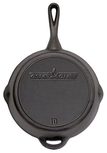 The Camp Chef SK-10  Cast Iron Skillet, 10 Inch - Camp Set Pot Chef