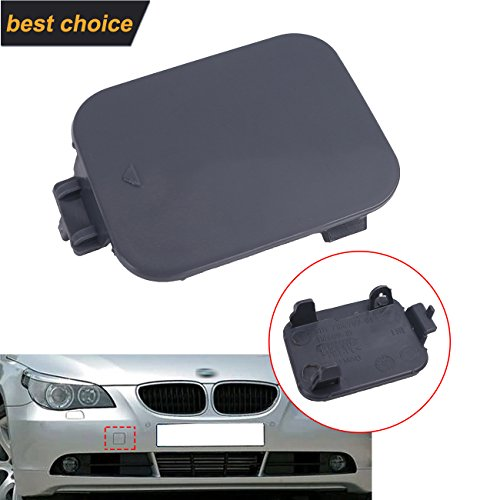 Bmw New Front Bumper Cover (For BMW E60 Front Bumper Tow Hook Eye Cover Cap 528i 535i 550i 2008-2010 Primered)