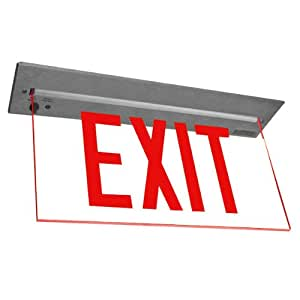 how to change exit sign battery