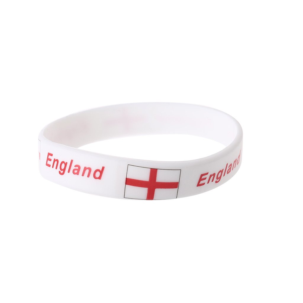 shaoge 2018ロシアワールドカップサッカーファンブレスレットチアリーディングシリコンリストバンド国旗2018 Cheer製品 B07CHD6MHS イングランド イングランド