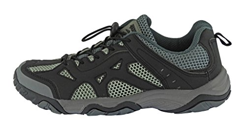 Rockin Footwear Mens Amphibious Athletic Hiking Swimming Water Shoe Aqua Sneaker Black/Grey su6nc