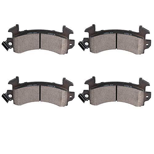 Brake Pads,ECCPP 4pcs Front Ceramic Disc Brake Pads Kits fit for Buick Century/Regal/Riviera,Cadillac DeVille/Eldorado/Fleetwood/Seville,Chevrolet Blazer/Camaro/El Camino/Malibu/Monte Carlo/S10 ()