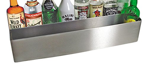 Image of Bar Sets Co-Rect Products SR5532D Speed Rail Bottle Holder, Double Shelf, Stainless Steel, Holds 16 1 L Bottles, 32' x 8-3/16' x 9-5/8' Size, Medium
