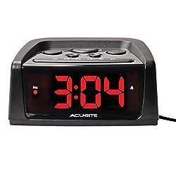 AcuRite 13019W2 5.4-inch Intelli-Time Alarm Clock