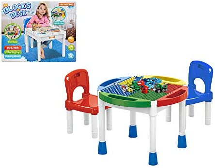 Mazzeo Giocattoli Set Tavolino e sedie Multifunzione per