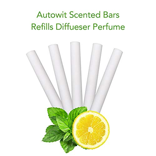 - autowit Scented Bars Refills Diffueser Perfume Solid Air Purifier for Air Vent Freshener, Lemon