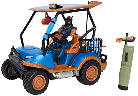 """10/"""" All Terrain Vehicle with Remote Control Includes 4/"""" Copper Wasp Articulated Figure and 1 Power Punch Harvesting Tool Fortnite Stinger Wrap ATK Deluxe Feature Vehicle"""