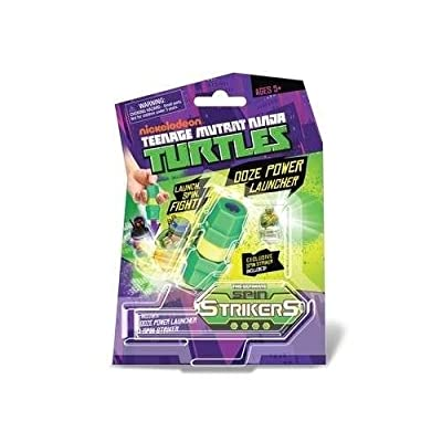 launcher spin strikers tortue ninja + 1 mini toupie