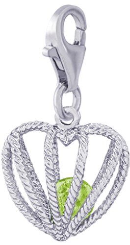 Rembrandt Charms, Embraced with Love, August Stone with Clasp.925 Sterling ()