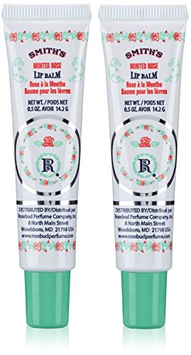 Smith's Rosebud Perfume Co. Minted Rose Lip Balm in a Tube .5 oz - 2-Pack ()