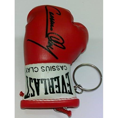 Cassius clayautographed Mini gant de boxe porte-clés durable modeling