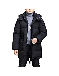 OCHENTA Boys Kids Waist Drawstring Winter Padded Quilted Coats Age of 2-12