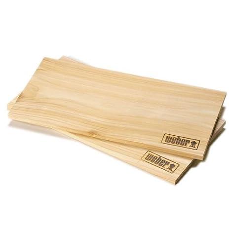 Weber grande, in legno di cedro fumo Boards: Amazon.it: Giardino e ...