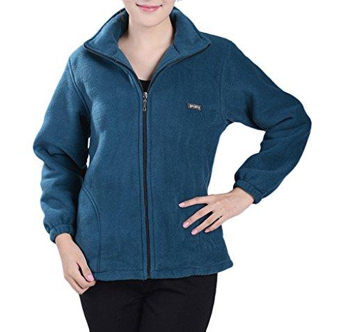 Wantdo Women's Springs Full-Zip Value Fleece Jacket(Blue,M/2XL)