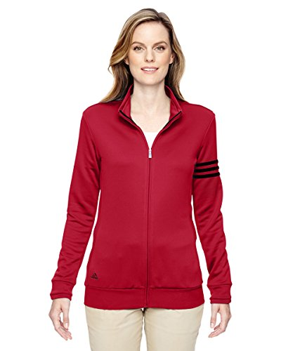 adidas Womens climalite 3-Stripes Pullover A191 -POWER RED/ B XL