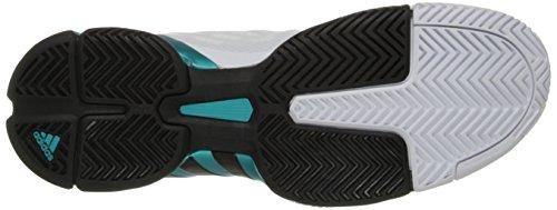 adidas Performance Barricade 2016 Tennis-Schuh, Halb Sonnen Slime/Schwarz/Schwarz, 6.5 M US White/Black/Shock Green