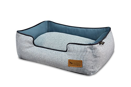 P.L.A.Y. (Pet Lifestyle And You) P.L.A.Y. - Houndstooth Lounge Bed - Small - (Houndstooth Dog Bed)