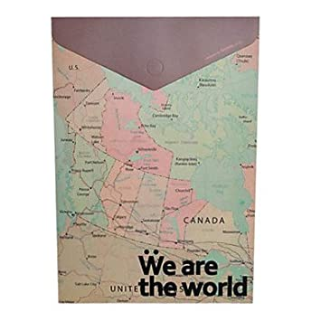 Zaki vintage world map design a4 file packet amazon office zaki vintage world map design a4 file packet gumiabroncs