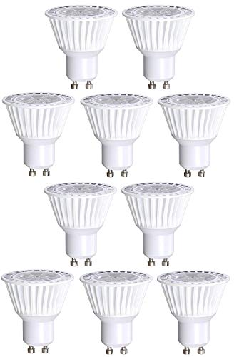 - 10 Pack Bioluz LED GU10 LED Bulbs 50W Halogen Replacement Dimmable 6.5w 3000K 120v UL Listed (Pack of 10)
