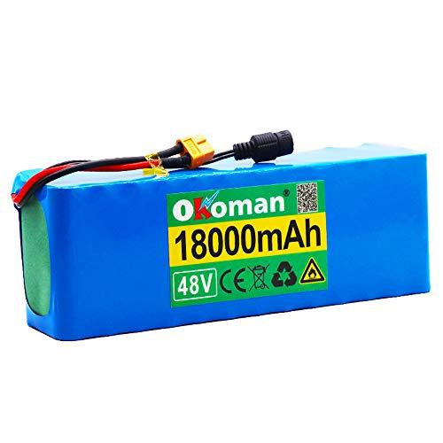 48 V lithium-ion batterij 13s3p 21700 18 Ah batterij Pack 1000 W High Power batterij e-bike BMS met Xt60 stekker…