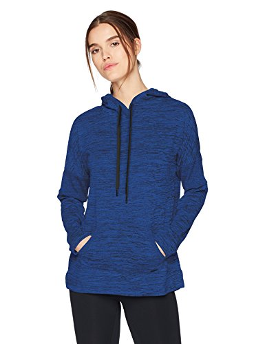 Marc New York Performance Women's Marled Sweater-Knit Hooded Tunic, Cerulean, M