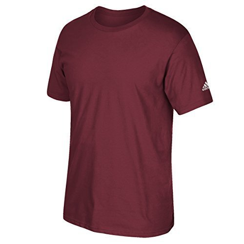 T-shirt Adidas Manica Corta Con Logo Colletto Bordeaux