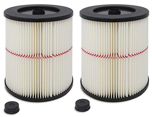 Fette Filter - General Purpose Cartridge Filter Compatible with Craftsman Red Stripe Vac. Compare to Part # 17816 & 9-17816. (Pack of 2)