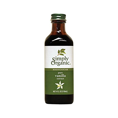 Simply Organic Pure Vanilla Extract, Certified Organic, 4-Ounce Glass Bottle Bourbon Vanilla Extract