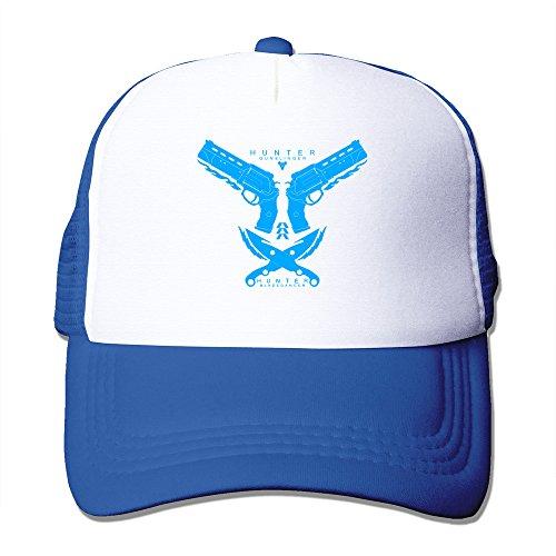 [TIKE Unisex Outdoor Hunter Gunslinger Bladedancer LOGO Trucker Cap Cap Hats Mesh Back RoyalBlue] (Woman Gunslinger Costume)