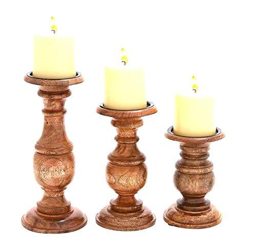 Deco 79 51536 Wood Candle Holder (Set of 3) 10