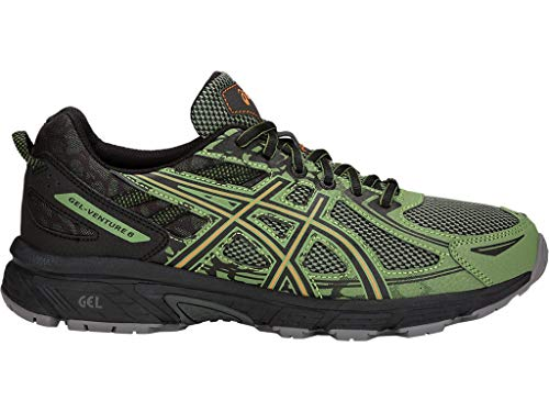 ASICS Mens Gel-Venture 6 Running Shoe, Aluminum/Black/Directoire Blue, 11 Medium US