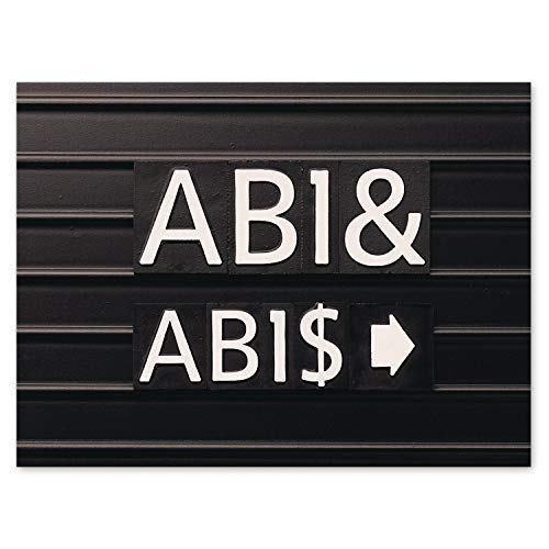 Quartet 0.75-Inch Characters for Magnetic Letter Boards, Helvetica Font, 128 Characters per Set, White (M3/4) (Renewed)