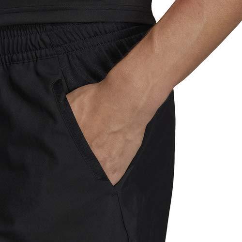 adidas Men's Club 3-Stripes 9-Inch Tennis Shorts, Black/White, X-Small by adidas (Image #4)