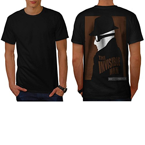 [The Invisible Man Movie Poster Men NEW L T-shirt Back | Wellcoda] (Smiley Movie Mask)