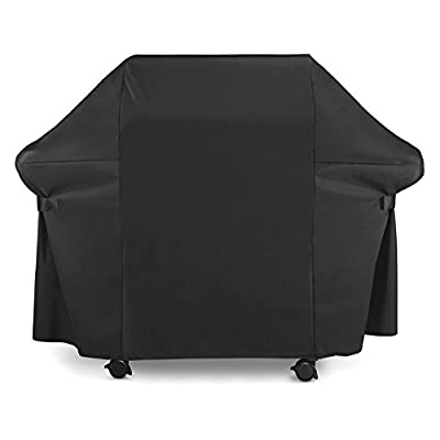 BBQ Gas Grill Cover 7107 for Weber: 44x60 in Heavy Duty Waterproof & Weather Resistant Genesis & Spirit Series Outdoor Barbeque Grill Covers by LiBa by LiBa