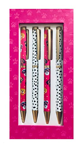 (Kate Windgate Gift Boxed Pen Set - Assorted Dogs & Polka Dot Pens)