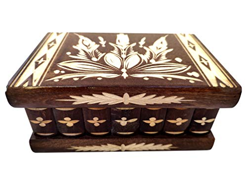 - Handmade Wooden Puzzle Jewelry Box from Kalotart. One of a Kind Magic Case with Hidden Key & Removable Compartments. Stunning, Beautiful, Impressive Gift. Like Those Prized by European Royalty Brown