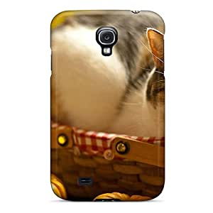 Tpu Case For Galaxy S4 With Kitty In Basket
