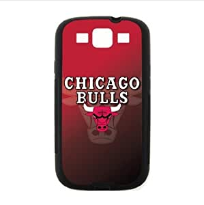 Fashionable designed Samsung Galaxy SIII i9300 Case with Chicago Bulls logo (Laser Technology)-by Allthingsbasketball