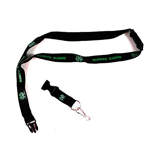 NCAA North Dakota Fighting Sioux Team Color Lanyard, 22-inches, Black