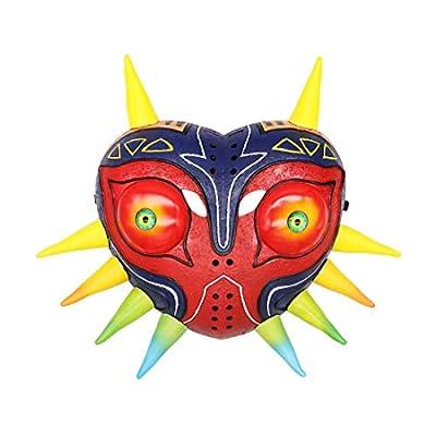 The Legend of Zelda: Majora's Mask, 3D Resin Mask, Deluxe Mask Replica, Carnival Hallowen Cosplay Fancy Dress Costume Prop Black: Clothing